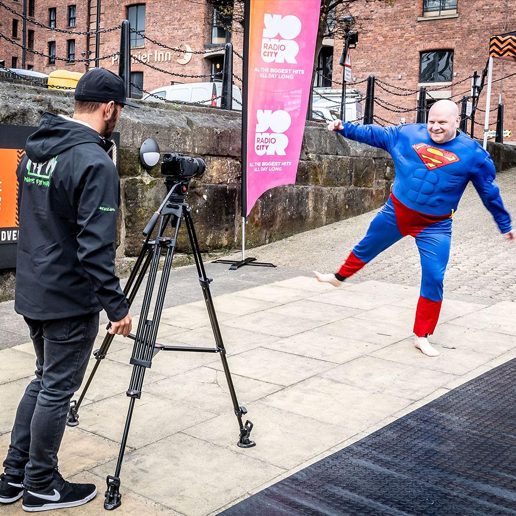 Scott Hughes Radio City Superhero Day