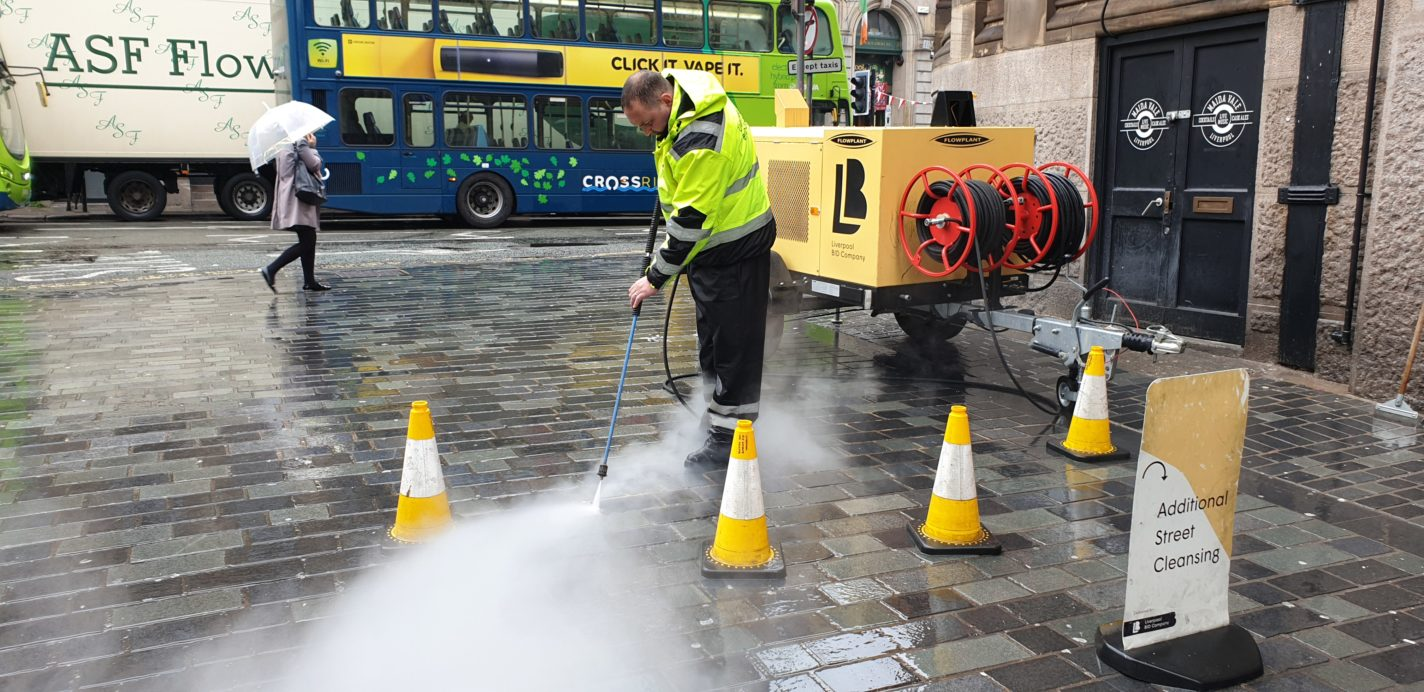 BID Street Rangers - hot washing Temple Court